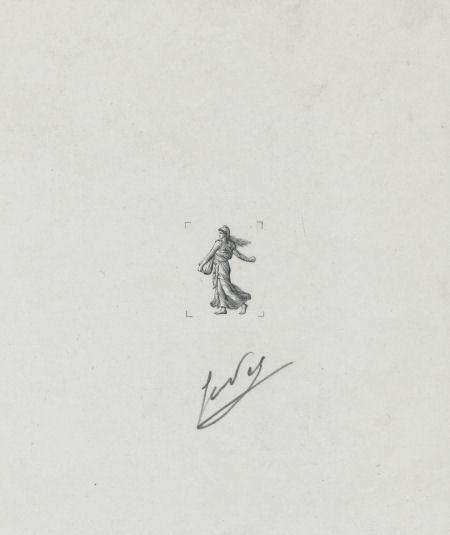 Galerie : Epreuve d\'artiste de la Semeuse de Piel